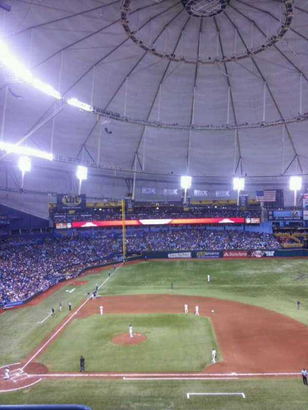Tropicana Field, section: 312, row: D, seat: 2