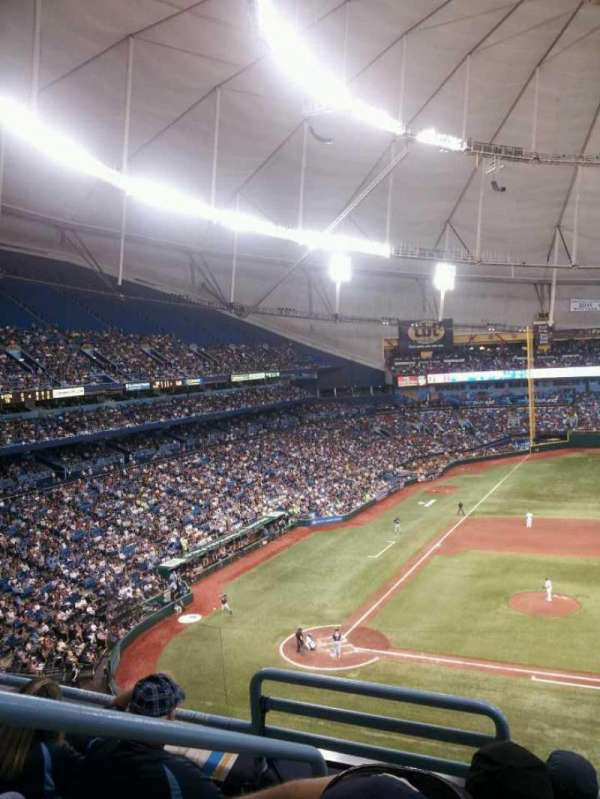 Tropicana Field, section: 312, row: D, seat: 1