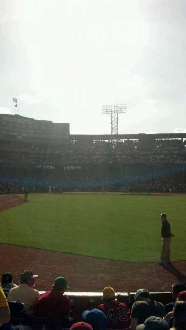 Fenway Park, section: Right Field Box 2, row: H, seat: 12