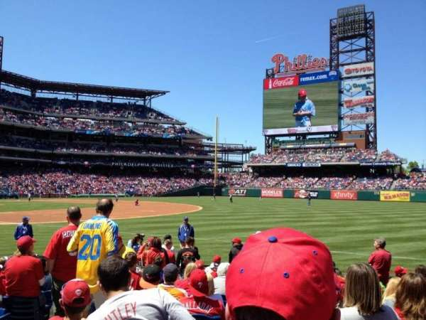 Citizens Bank Park, section: 111, row: 13, seat: 11