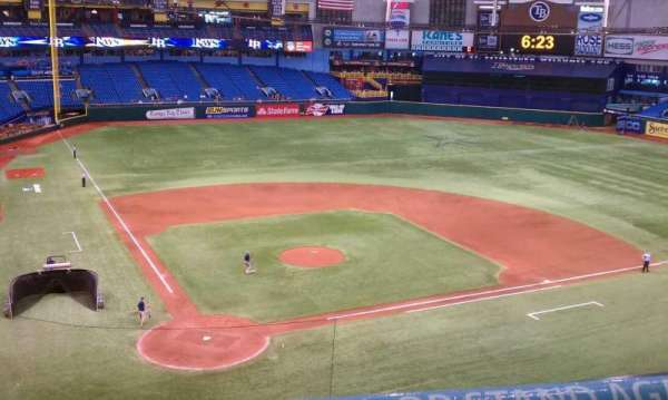 Tropicana Field, section: 306, row: A, seat: 2
