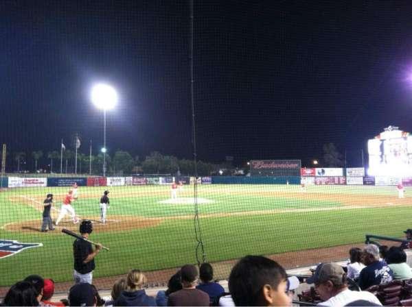 San Manuel Stadium, section: 104, row: G, seat: 6