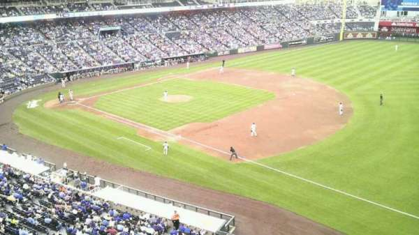 Kauffman Stadium, section: 434, row: a, seat: 8