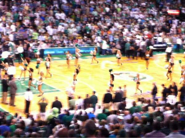TD Garden, section: Loge 15, row: 22, seat: 1