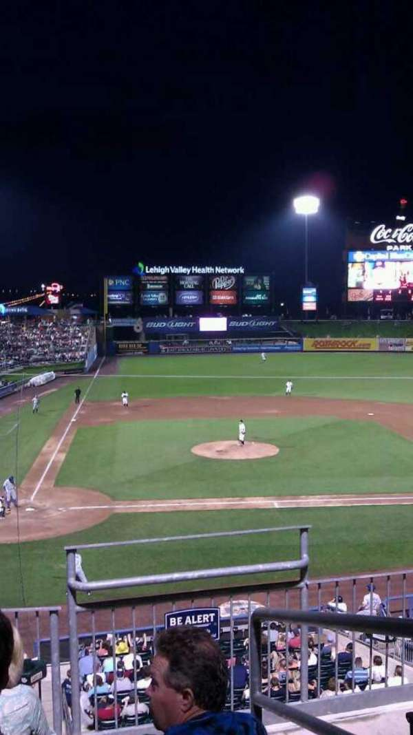 Coca-Cola Park, section: 205, row: D, seat: 10