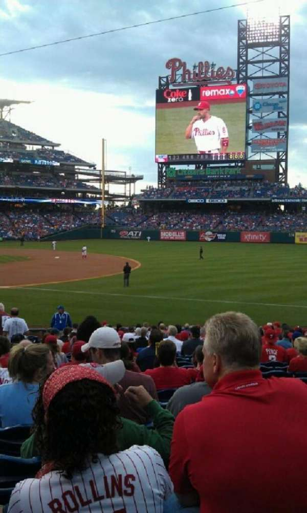 Citizens Bank Park, section: 112, row: 24, seat: 15