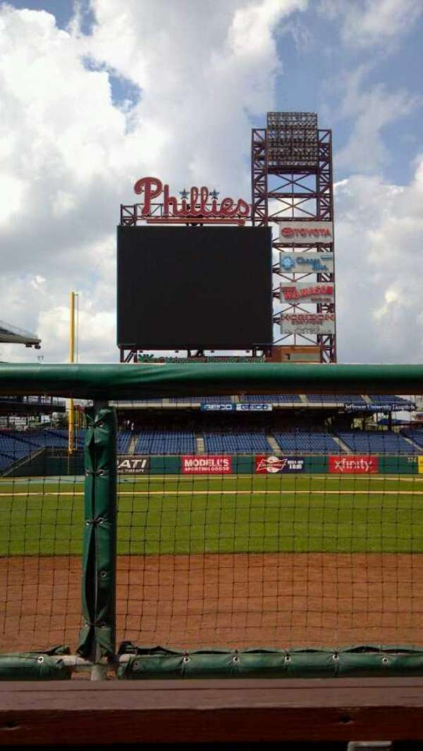 Citizens Bank Park, section: Dugout, row: Bench, seat: Bench