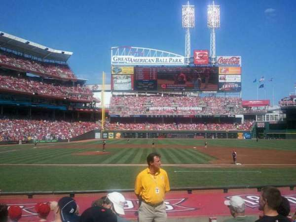 Great American Ball Park, section: 134, row: H, seat: 1