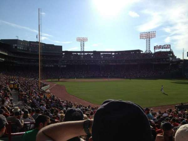 Fenway Park, section: Right Field Box 89, row: SS, seat: 16