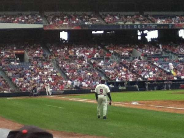 Turner Field, section: 119, row: 3, seat: 8