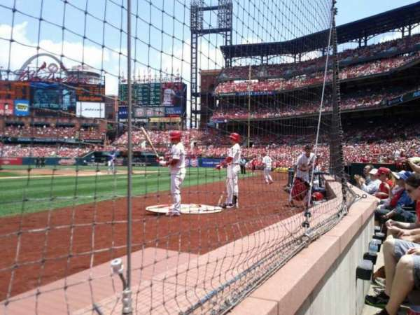 Busch Stadium, section: 1, row: 1, seat: 1