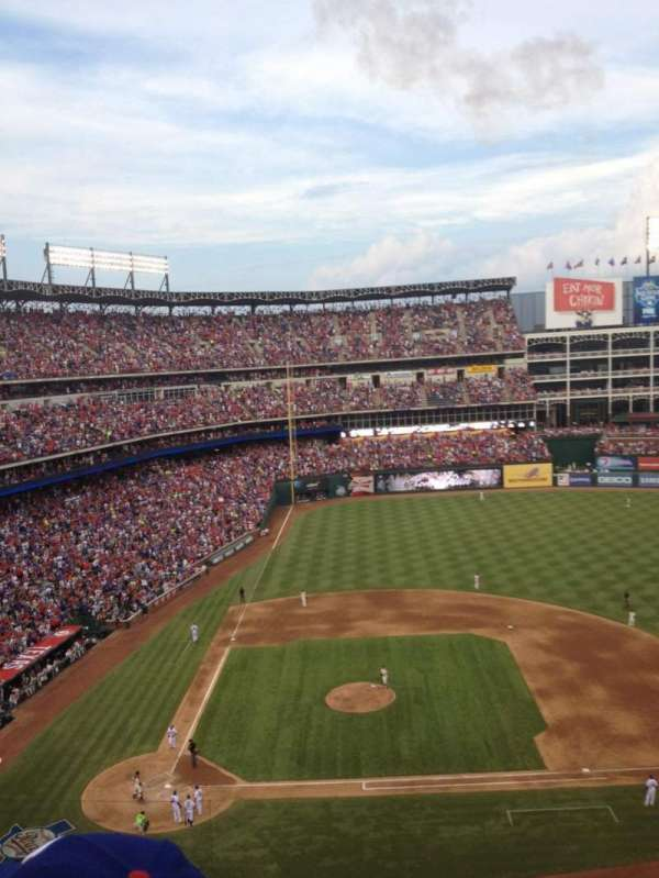 Globe Life Park in Arlington, section: 332, row: 2, seat: 7