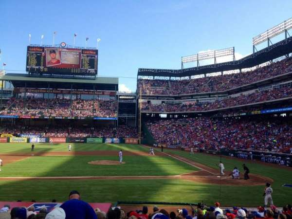Globe Life Park in Arlington, section: 20, row: 15, seat: 13