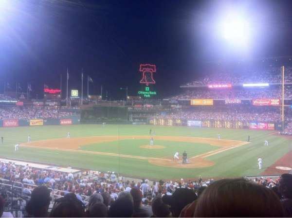Citizens Bank Park, section: 125, row: 33, seat: 18