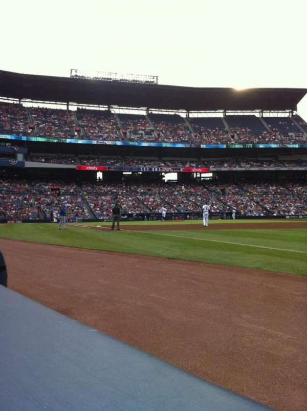 Turner Field, section: 121L, row: 1, seat: 102