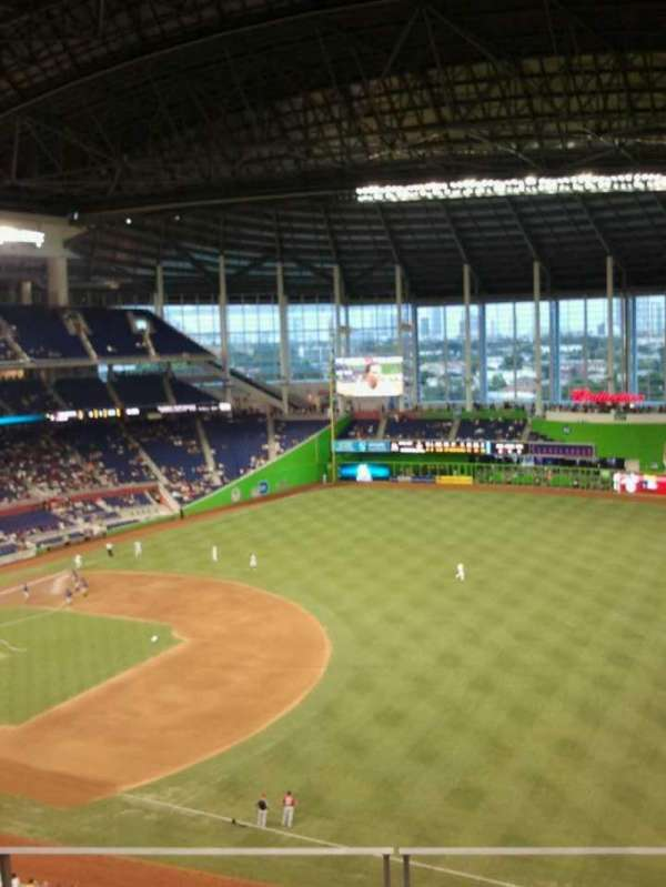 Marlins Park, section: 305, row: d, seat: 13