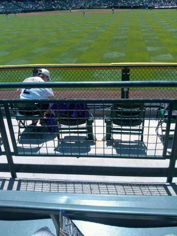 Coors Field, section: 159, row: 3, seat: 8