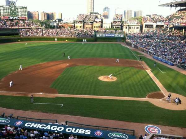 Wrigley Field, section: 312L, row: 1, seat: 3