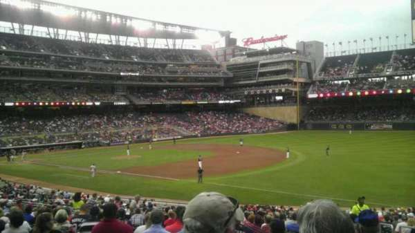 Target Field, section: 104, row: 35, seat: 3