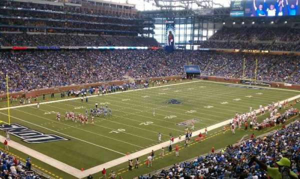 Ford Field, section: 223, row: 8
