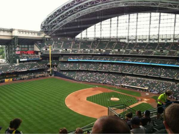 Miller Park, section: 435, row: 15, seat: 12