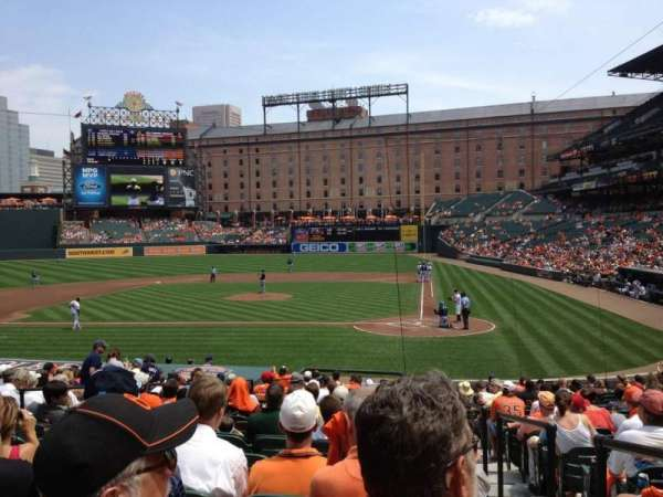 Oriole Park at Camden Yards, section: 46, row: 20, seat: 1