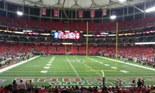 Georgia Dome, section: 106, row: 24, seat: u