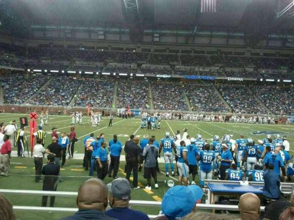 Ford Field, section: 105, row: 4, seat: 2