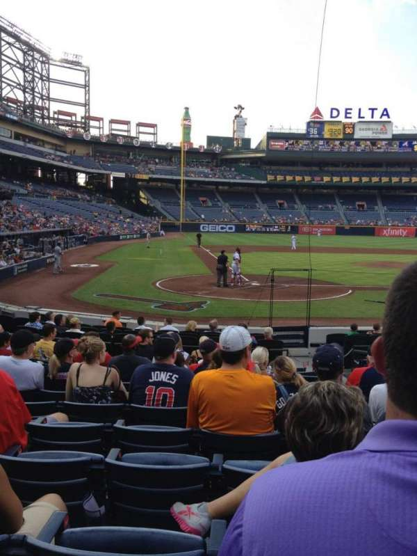 Turner Field, section: 105l, row: 13, seat: 105