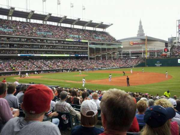 Progressive Field, section: 134, row: x, seat: 8