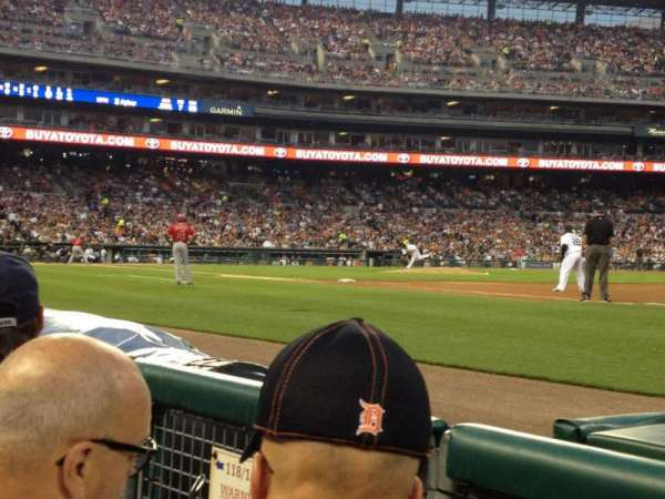 Comerica Park, section: 117, row: 2, seat: 21