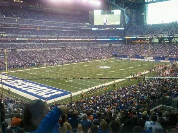 Lucas Oil Stadium, section: 220, row: 1, seat: 12