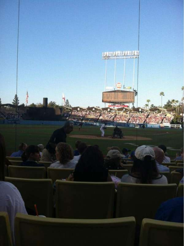 Dodger Stadium, section: 3DG, row: DD, seat: 5