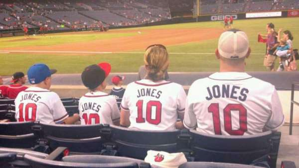 Turner Field, section: 119L, row: 5, seat: 101