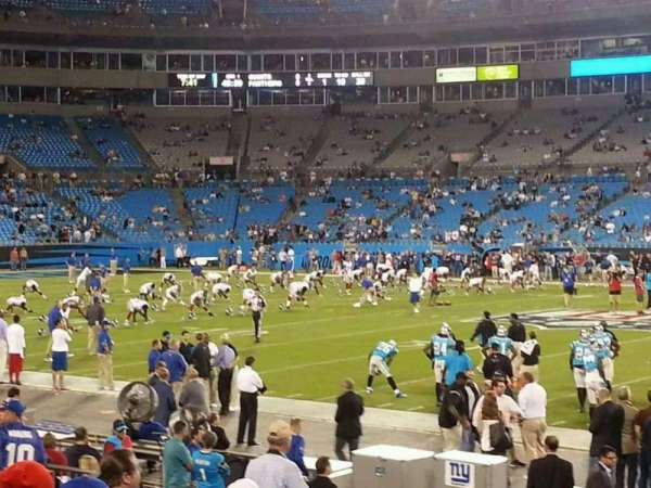 Bank of America Stadium, section: 110, row: 10, seat: 5