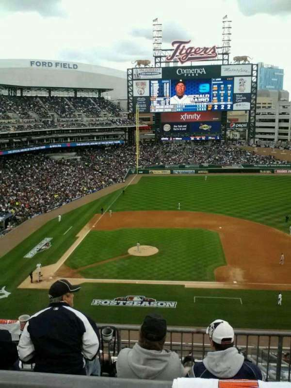 Comerica Park, section: 322, row: 1, seat: 12