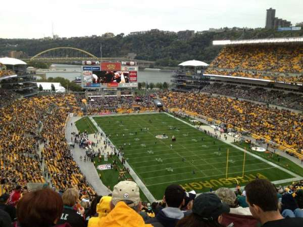 Heinz Field, section: 519, row: GG, seat: 17