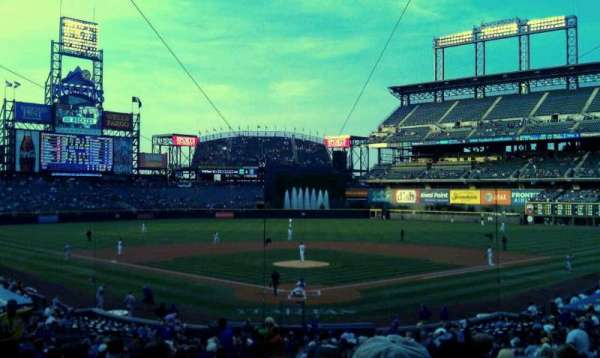 Coors Field, section: 130, row: 35, seat: 14