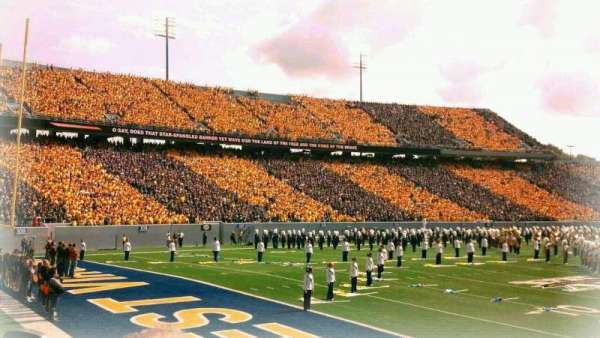 Mountaineer Field, section: 121, row: 4