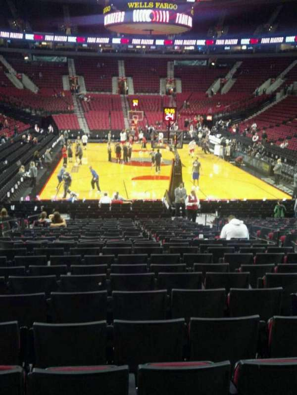 Moda Center, section: 107, row: L, seat: 7