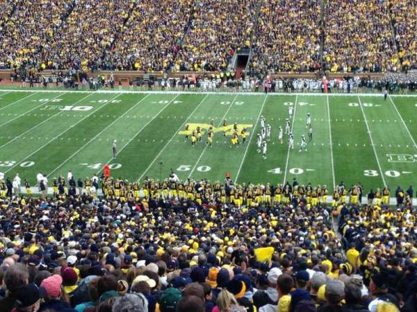 Michigan Stadium, section: 22, row: 80, seat: 13