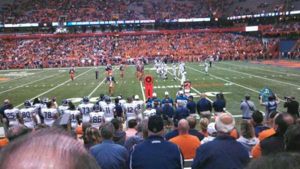Carrier Dome, section: 115, row: I, seat: 107