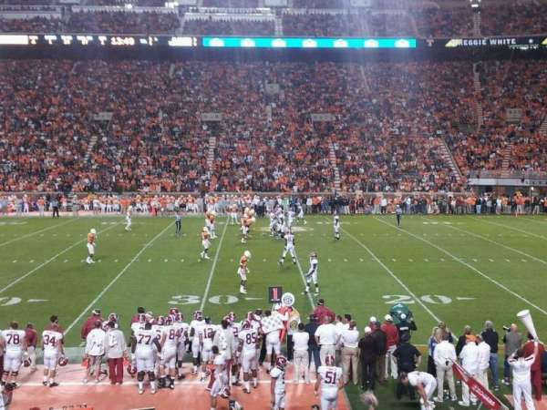 Neyland Stadium, section: B, row: 18, seat: 22