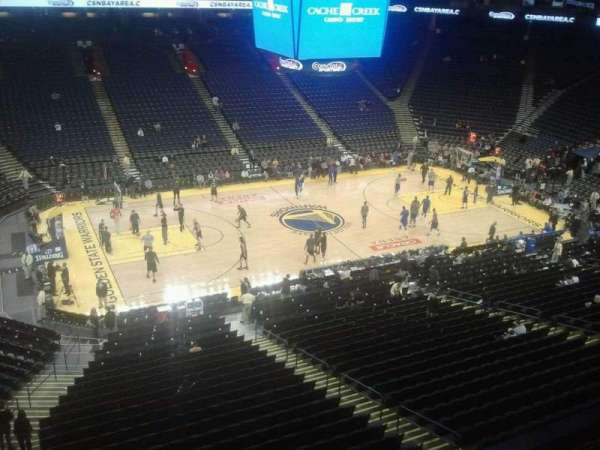Oracle Arena, section: 202, row: 1, seat: 12