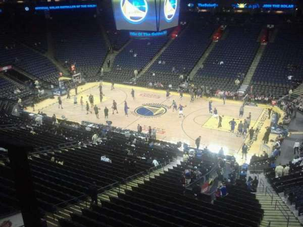 Oracle Arena, section: 229, row: 1, seat: 11