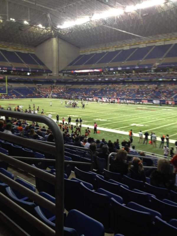 Alamodome, section: 107, row: 20, seat: 9