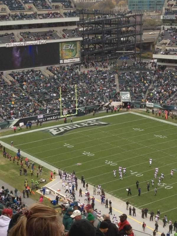 Lincoln Financial Field, section: 205, row: 13, seat: 21