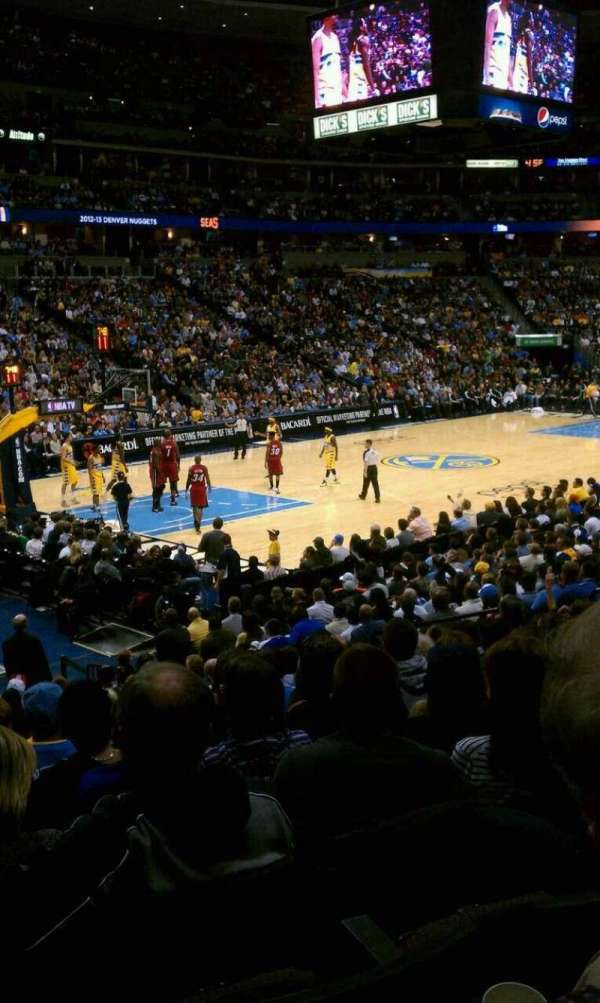 Pepsi Center, section: 130, row: 16, seat: 15