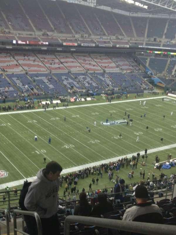CenturyLink Field, section: 315, row: P, seat: 1