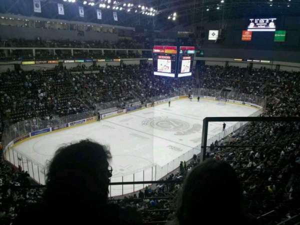 Giant Center, section: 203, row: B, seat: 2